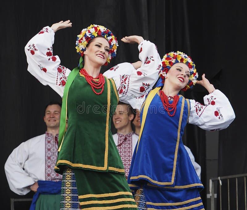 Ukrainian Dancers. At Edmonton's Kaleido Festival September 10, 2016 stock image