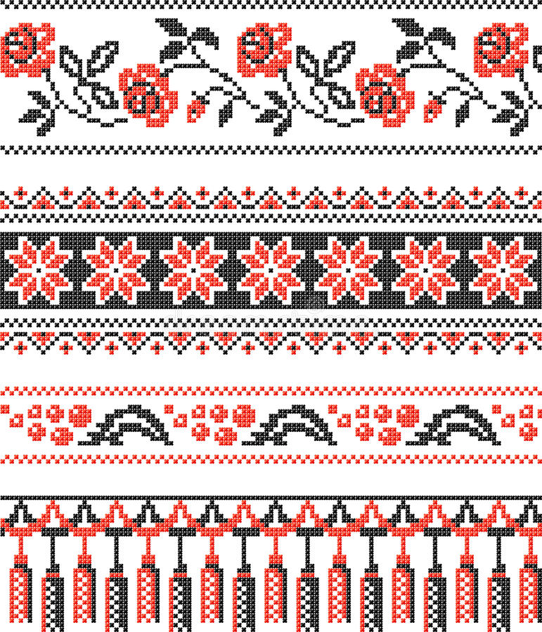 Ukrainian decorative pattern stock photo