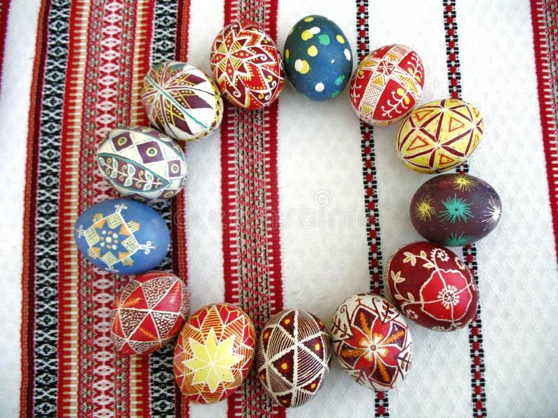 Ukrainian easter eggs stock photo