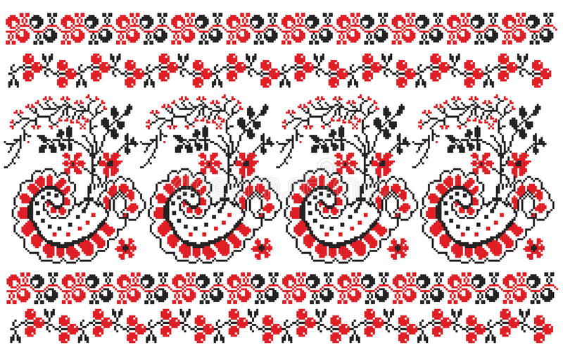 Ukrainian embroider berries stock illustration
