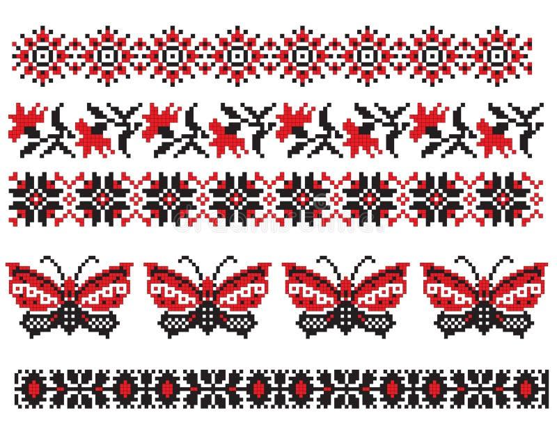 Ukrainian embroider butterfly royalty free illustration