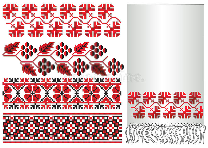 Download Ukrainian embroider grapes stock vector. Illustration of ethnic - 12615407