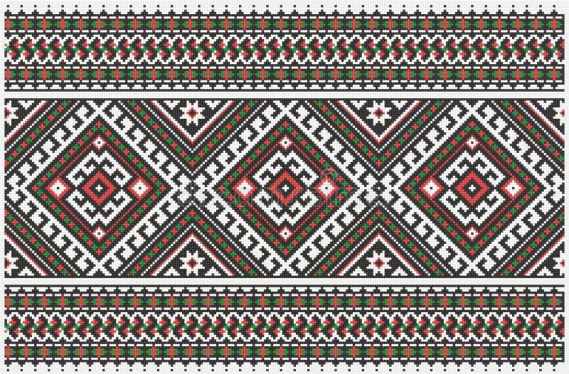 Ukrainian embroidery stock illustration