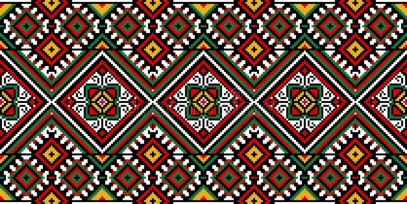 Ukrainian embroidery. Imitation of traditional Ukrainian embroidery stock illustration