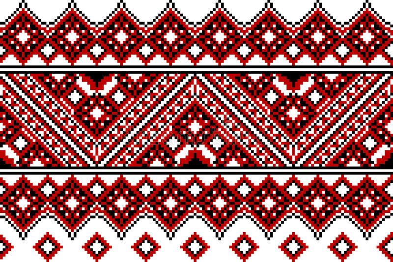 Ukrainian embroidery ethnic vector illustration