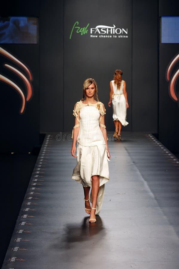 Ukrainian Fashion Week. Kiev, Ukraine, Alta-Expo. Editorial use only royalty free stock photography