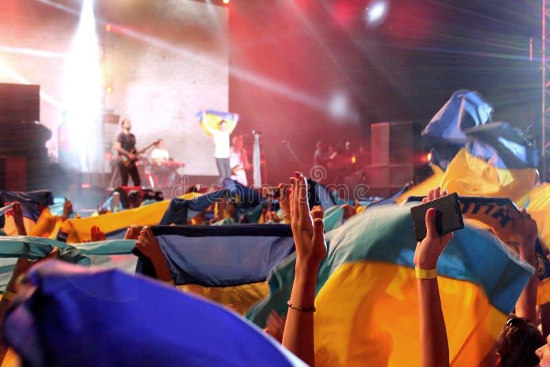 Ukrainian flag royalty free stock photos