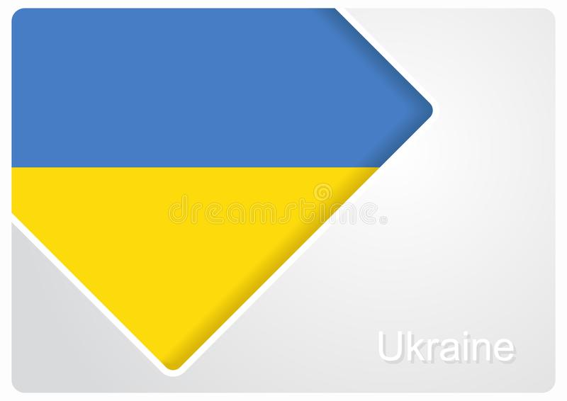 Ukrainian flag design background. Vector illustration. stock illustration