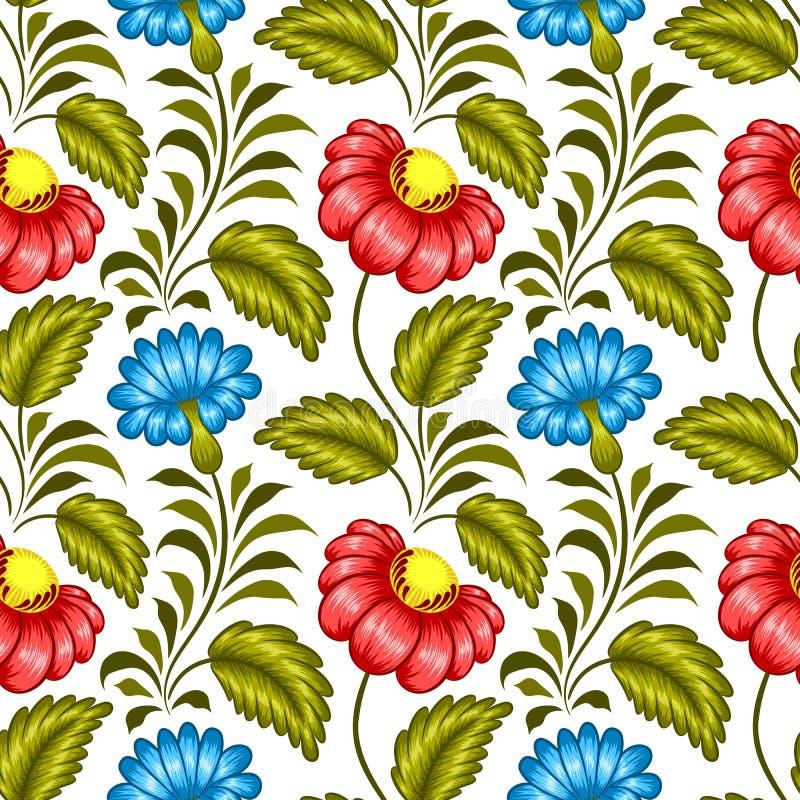 Ukrainian floral pattern stock illustration