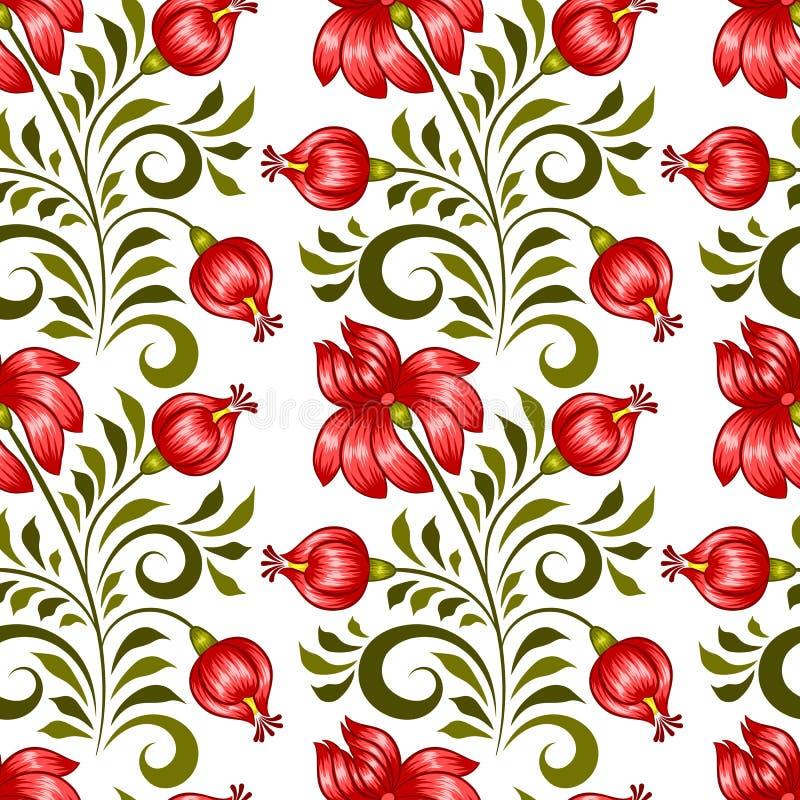 Ukrainian floral pattern vector illustration