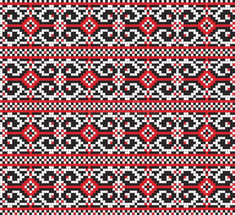 Ukrainian folk art. Traditional embroidery pattern stock illustration