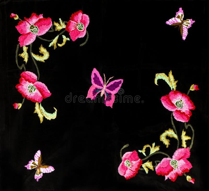 Ukrainian folk embroidery, folk arts and crafts, handmade. Ukrainian folk embroidery, Handmade embroidery, art royalty free illustration