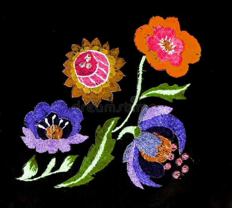 Ukrainian folk embroidery, folk arts and crafts, handmade. Ukrainian folk embroidery, Handmade embroidery, art stock illustration
