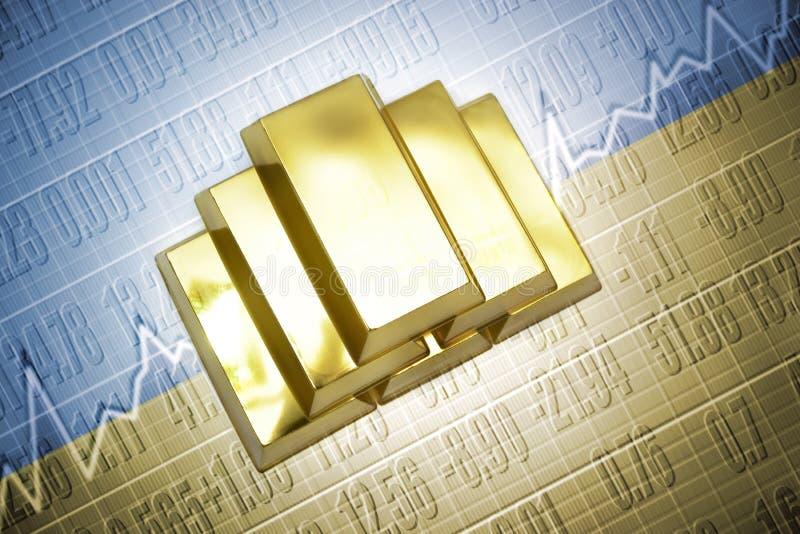 ukrainian gold reserves royalty free illustration