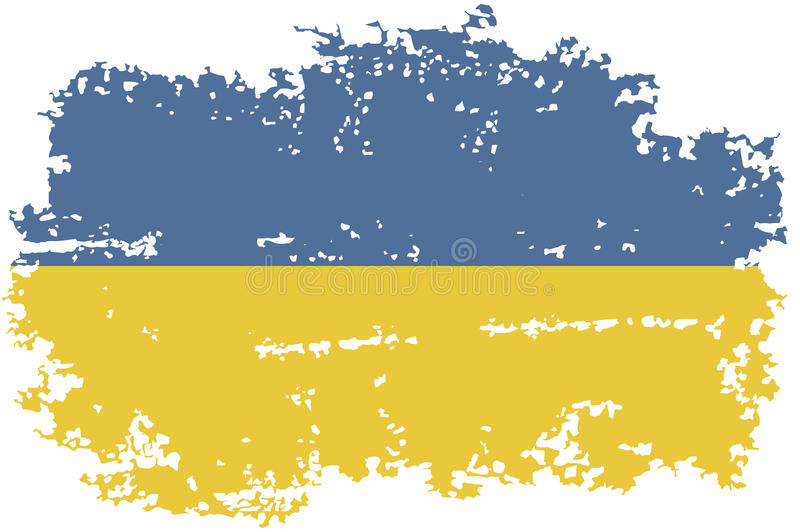 Ukrainian grunge flag. Vector illustration. stock illustration