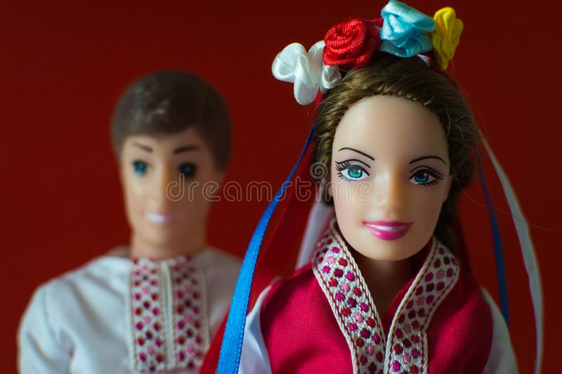 Ukrainian happy family royalty free stock photos