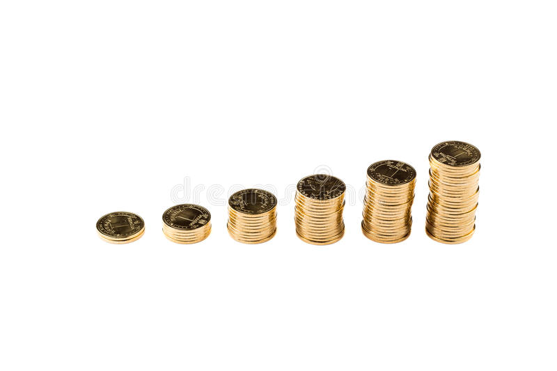 Ukrainian hryvnia. Coin 100 cents. The financial crisis in 2015 royalty free stock photography