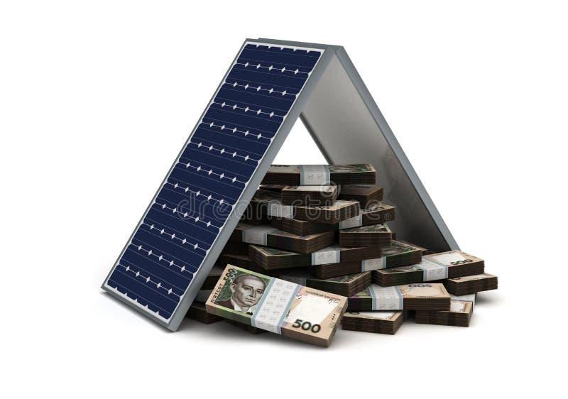 Ukrainian Hryvnia Energy Saving vector illustration