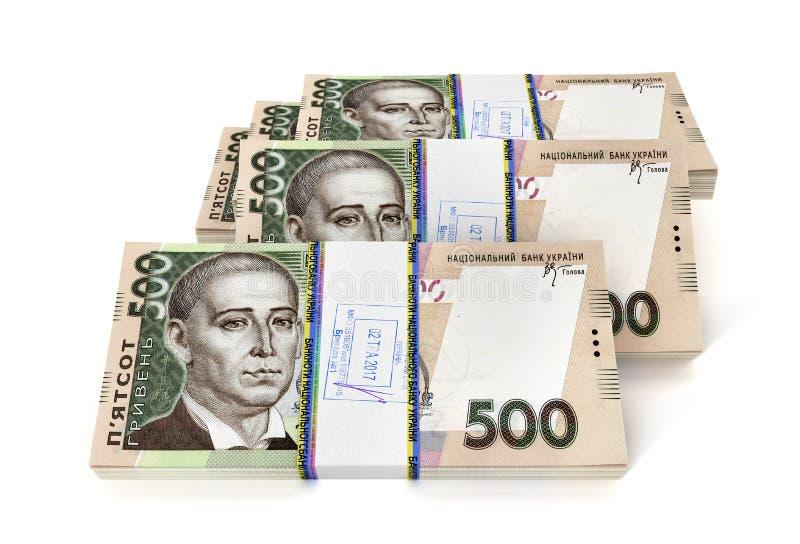 Ukrainian hryvnia new bills isolated. On white background. 3D illustration vector illustration
