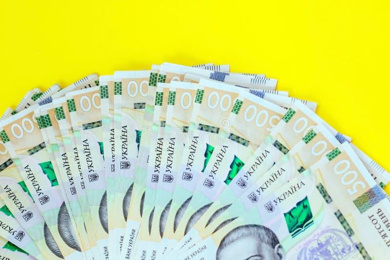 Ukrainian money hryvnia. New bills on 500 UAH. Ukrainian money hryvnia. New bills on 500 UAH royalty free stock photos