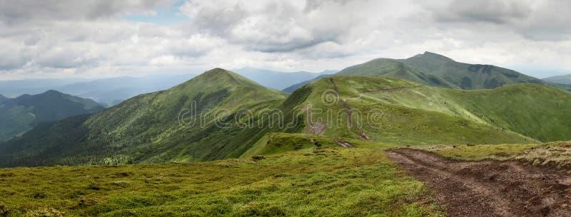 Ukrainian Mountains stock image