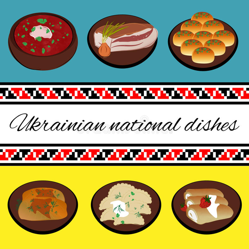 Ukrainian national cuisine. royalty free illustration