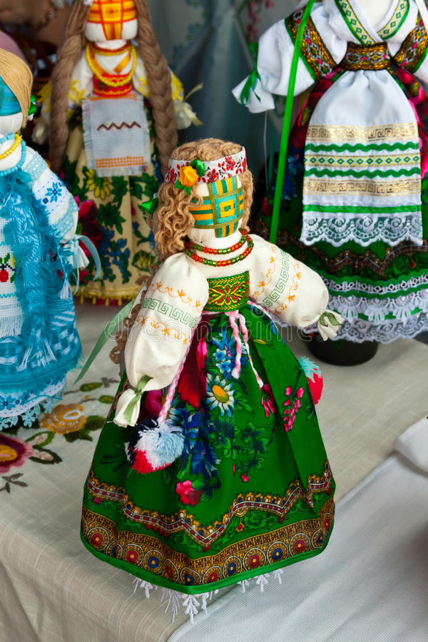 Ukrainian national doll stock photo