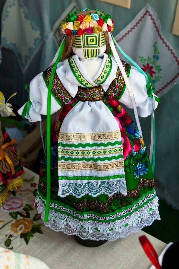 Ukrainian national doll stock photo