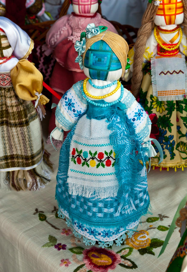 Ukrainian national doll stock photography