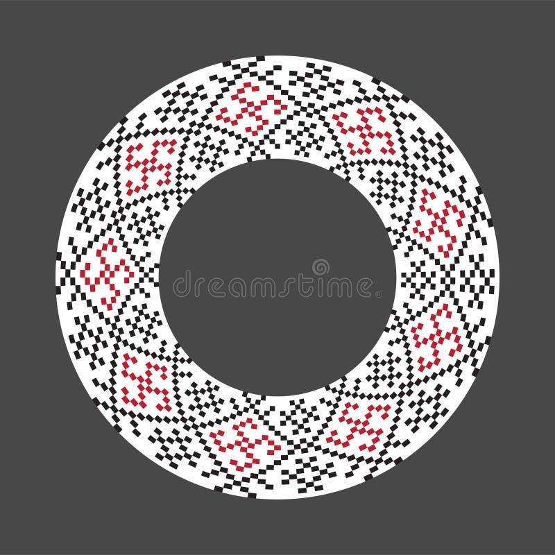 Ukrainian national rosette. Ukrainian national round pattern stock illustration