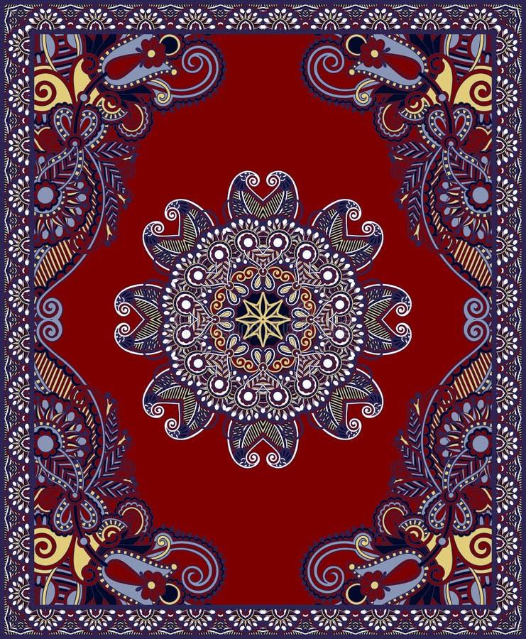Download Ukrainian Oriental Floral Ornamental Carpet Design Stock Vector