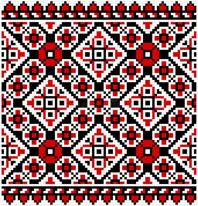 Ukrainian ornament. Ukrainian traditional ornament at black background royalty free illustration