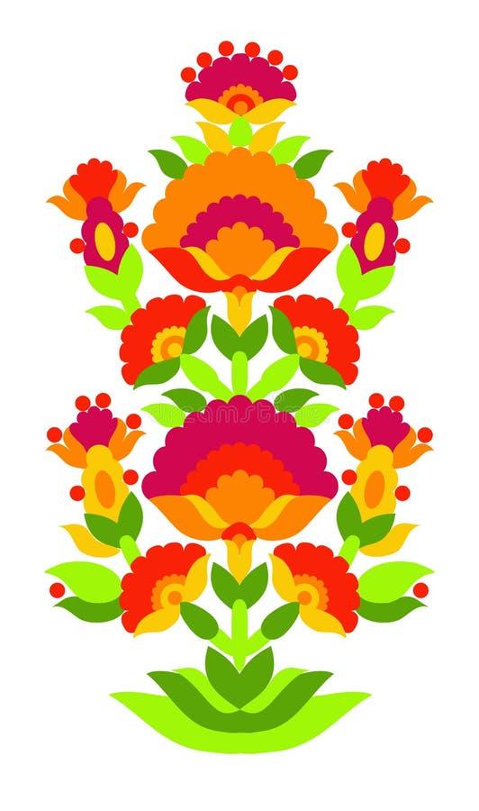 Pattern folk ornament `Tree of Life` stock illustration