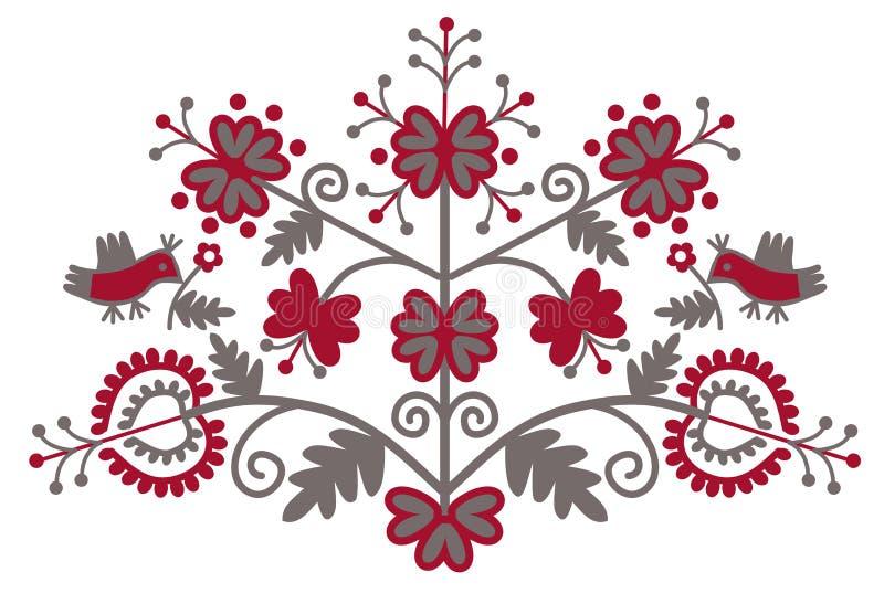 Traditional folk ornament `Tree of Life`. vector illustration