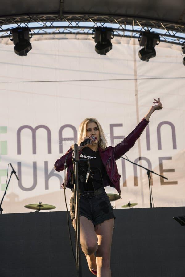 Ukrainian pop singer Alina Palii royalty free stock photos