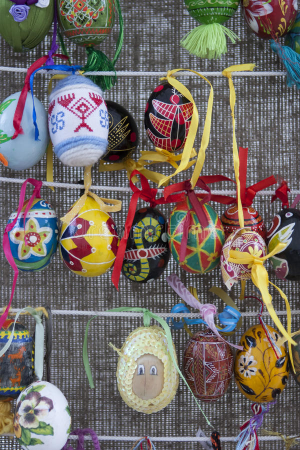Ukrainian Pysanky festival. KIEV, UKRAINE - MAY 5, 2016: Ukrainian Pysanky festival (Festival of Easter eggs, 23.04-09.05) - The traditional Easter event for royalty free stock photo