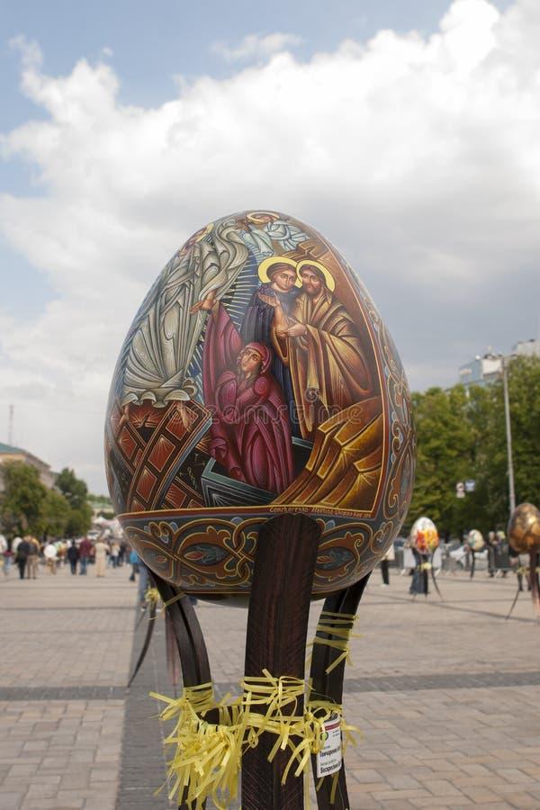 Ukrainian Pysanky festival. KIEV, UKRAINE - MAY 5, 2016: Ukrainian Pysanky festival (Festival of Easter eggs, 23.04-09.05) - The traditional Easter event for stock photo