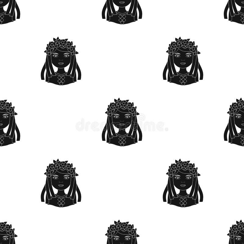 ukrainian Rasy ludzkiej pojedyncza ikona w czerń stylu symbolu zapasu ilustraci wektorowej sieci ilustracji
