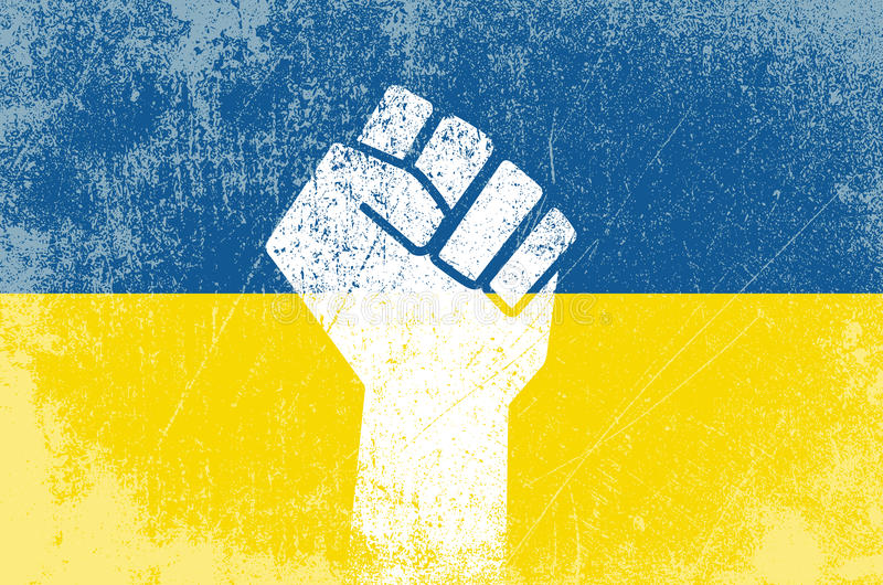 Ukrainian revolution. Vector illustration of fist symbol for the Ukrainian revolution vector illustration