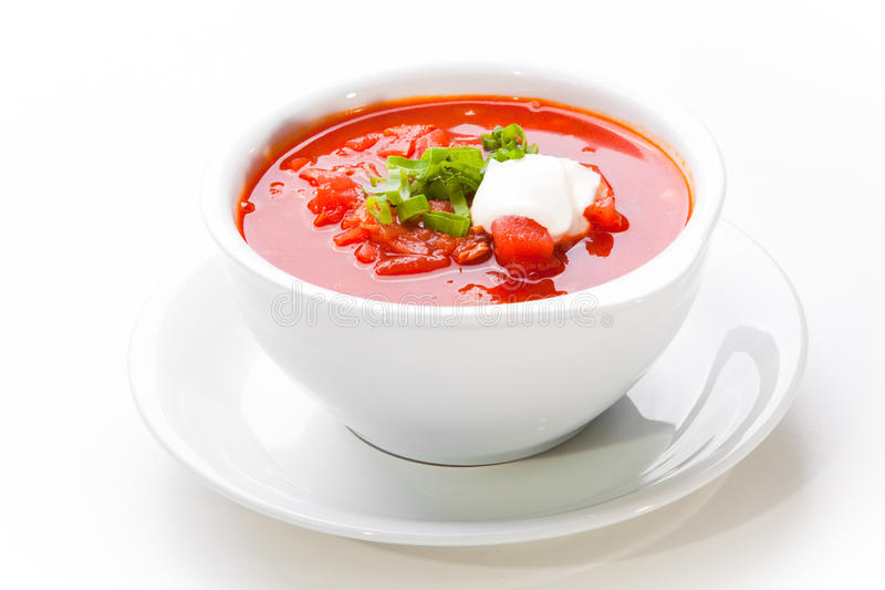 Download Ukrainian And Russian National Red Soup-borsch Stock Photo - Image: 25121272