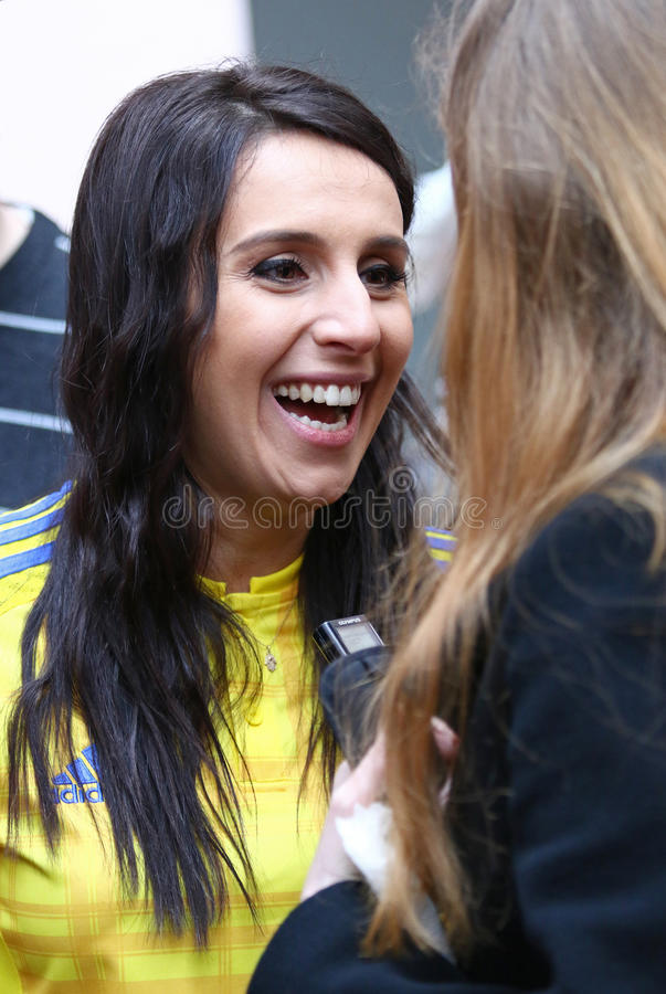 Ukrainian singer Jamala (represents Ukraine in Eurovision Song C royalty free stock photography