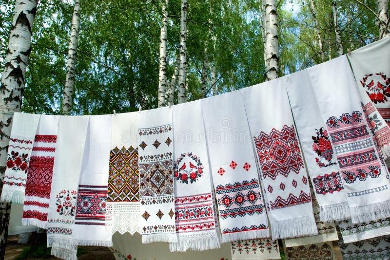 Ukrainian towels royalty free stock photography
