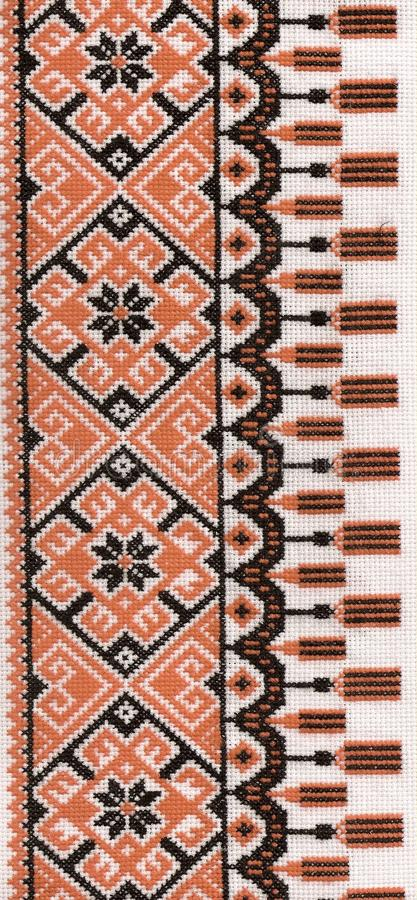 Ukrainian traditional decorative pattern stock images