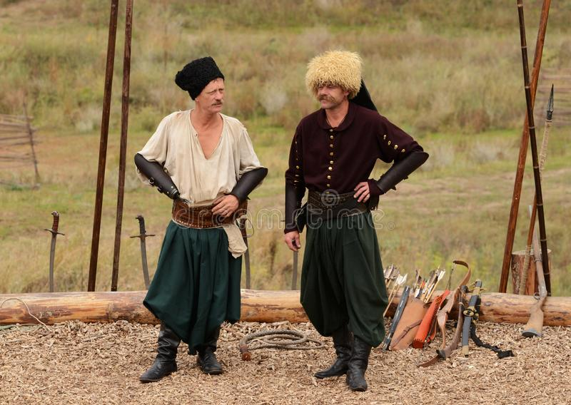 Ukrainian traditional festival in Zaporozhye on the Khortitsa island October 1, 2013 royalty free stock photo