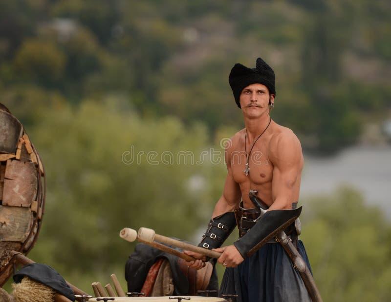 Ukrainian traditional festival in Zaporozhye on the Khortitsa island October 1, 2013 stock images