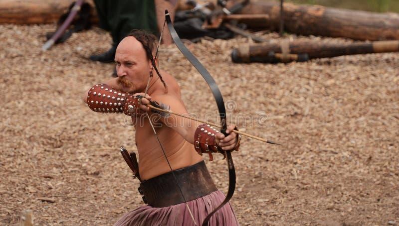 Ukrainian traditional festival in Zaporozhye on the Khortitsa island October 1, 2013 stock photos