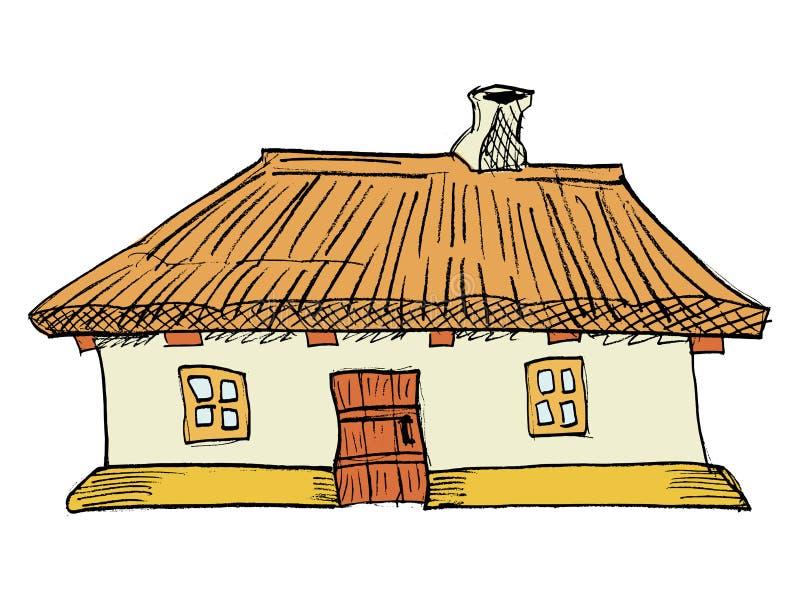 Ukrainian traditional house. Cartoon, illustration of Ukrainian traditional house vector illustration