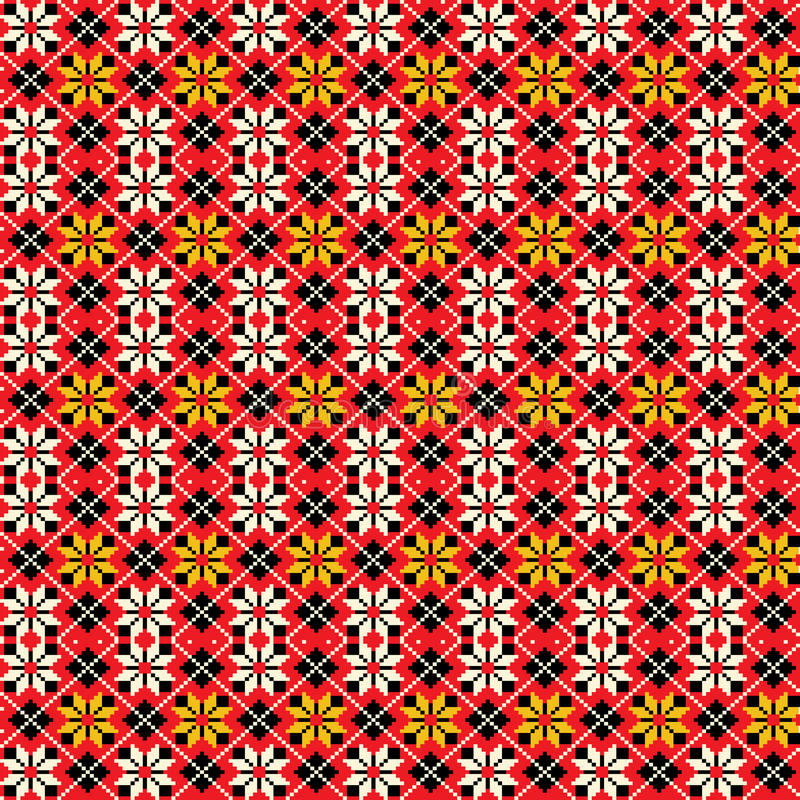 Ukrainian traditional seamless pattern. Ukrainian abstract traditional folk embroidery seamless pattern stock illustration