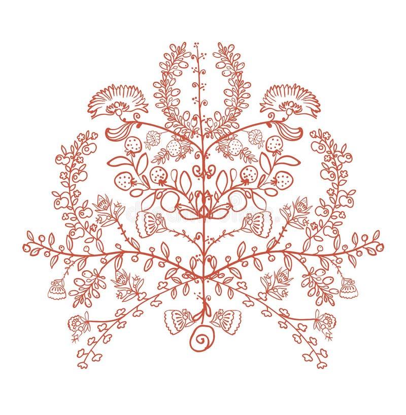 Ukrainian traditional symbol the tree of life. Vector illustration Ukrainian traditional symbol the tree of life stock illustration