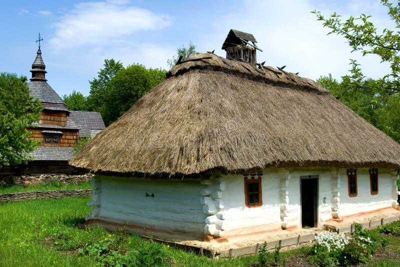 Ukrainian village stock photo
